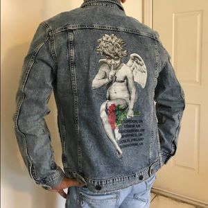 3f64fd27c H&M Young Thug Jackets & Coats | Mens Young Thug Denim Jacket New ...